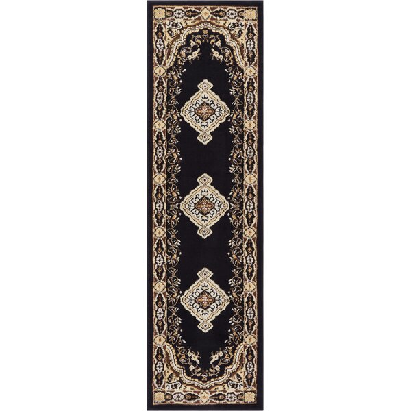 Bungalow Black Area Rug by Charlton Home