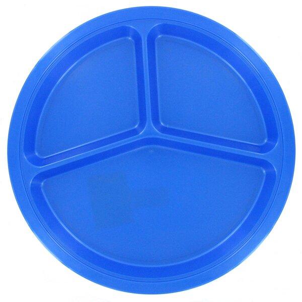 10.5 Melamine Divided Picnic Plate by B&R Plastics