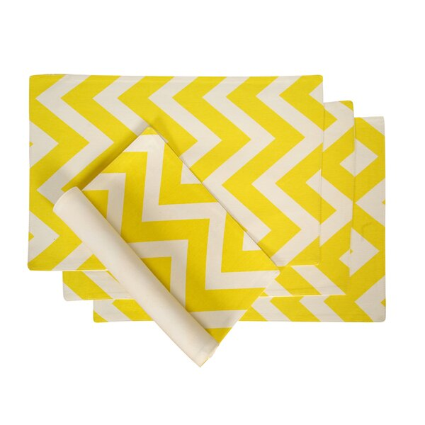 Hanner Chevron Placemat (Set of 4) by Latitude Run