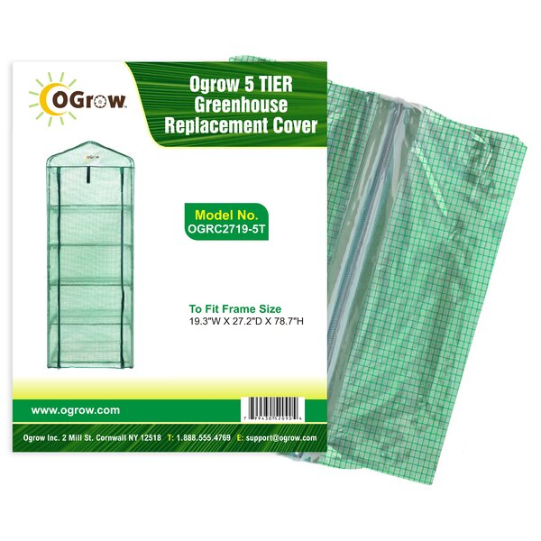 5 Tier Greenhouse PE Replacement Cover by OGrow