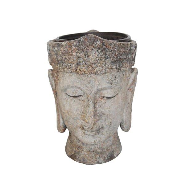 Mebane Decorative Buddha Head Resin Pot Planter by Bloomsbury Market