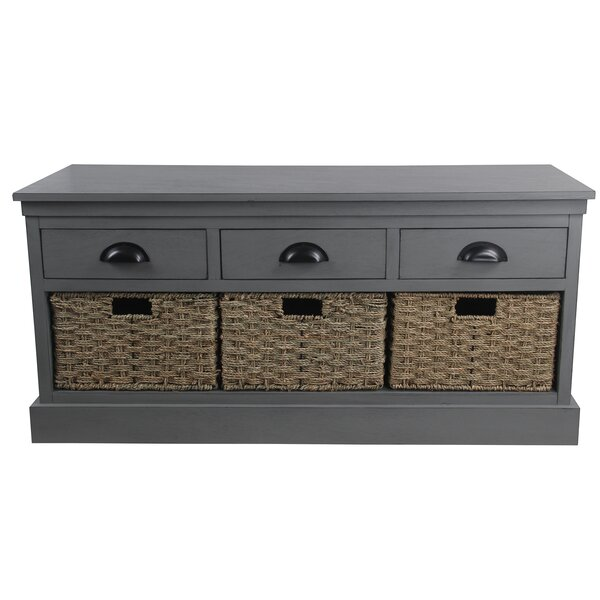 McHenry Wood Storage Bench by Gracie Oaks