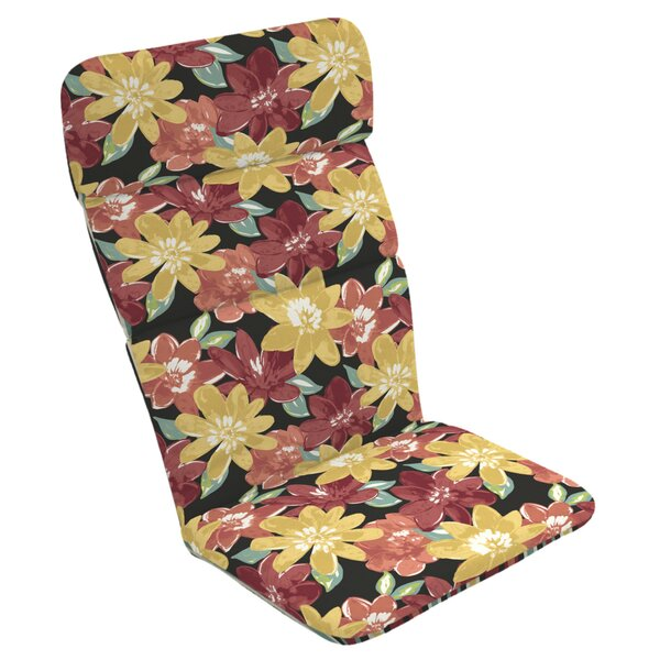 Floral Reversible Outdoor Lounge Chair Cushion by Red Barrel Studio