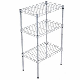 Find Alena 3-Tier Wire Shelving Rack with S Hooks and Extra Shelf Line Steel Baker's Rack Buy & Reviews