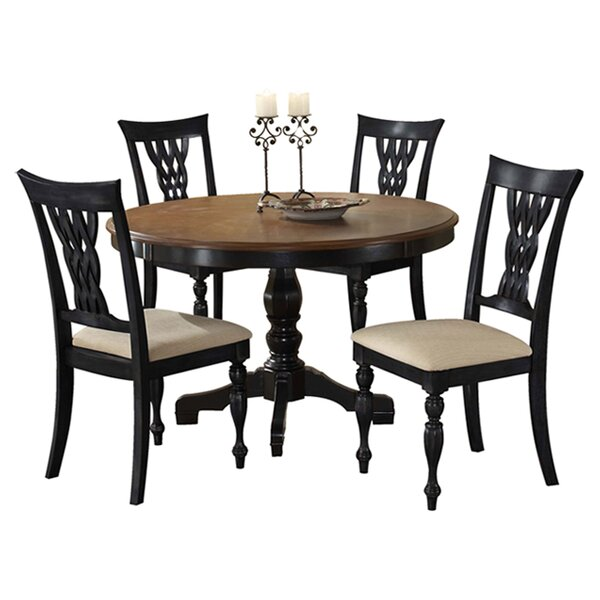 Carcassonne 5 Piece Solid Wood Dining Set by August Grove