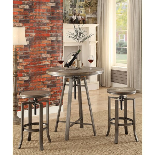 Mccourt Contemporary Adjustable Pub Table by Williston Forge