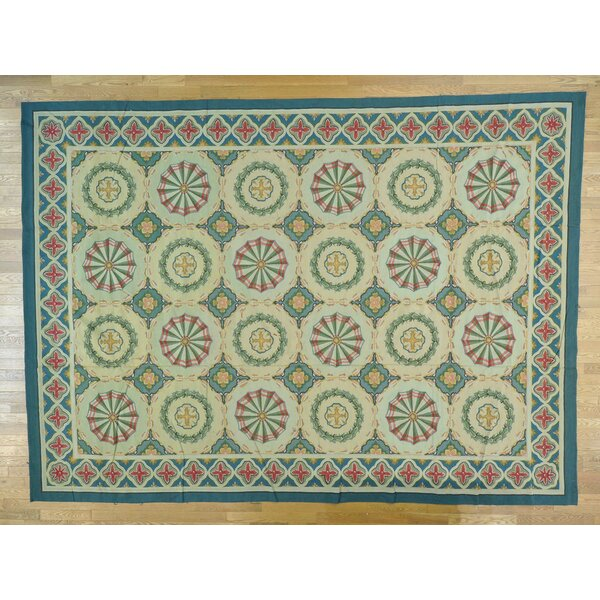 One-of-a-Kind Besser Neo Classic Handwoven Wool Area Rug by Isabelline
