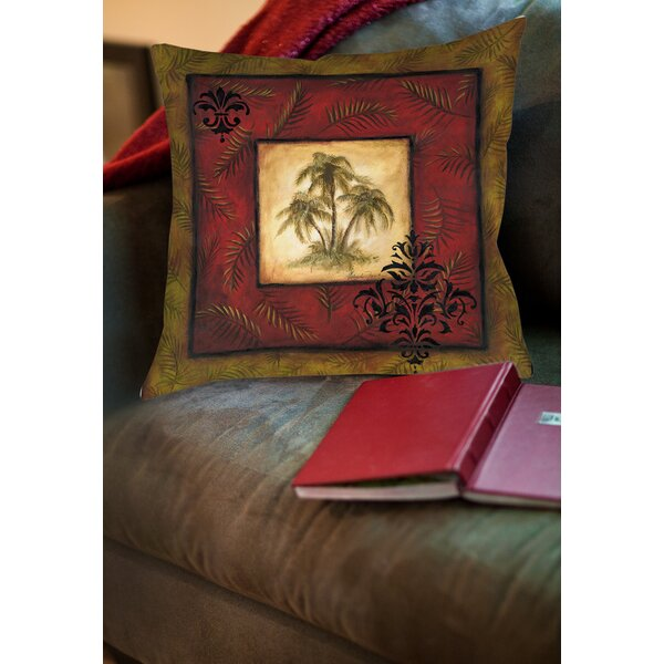 Palm Breezes Printed Throw Pillow by Manual Woodworkers & Weavers