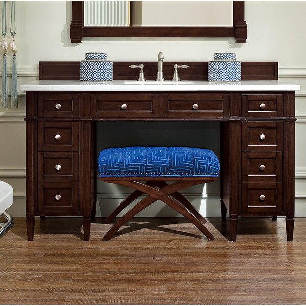 Dussault 60 Single Burnished Mahogany Bathroom Vanity Set by Darby Home Co