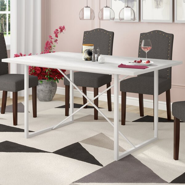 Modern Dewald Dining Table By Ivy Bronx Discount