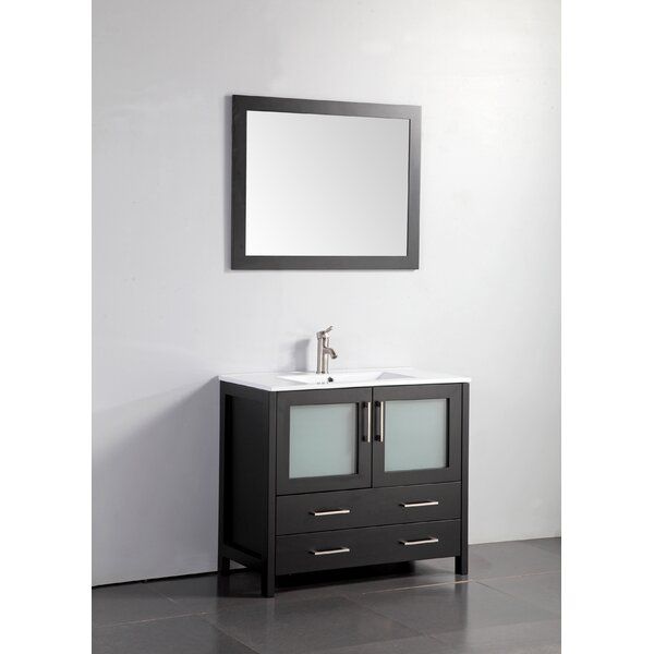 Bove 30 Single Bathroom Vanity Set with Mirror by Wrought Studio