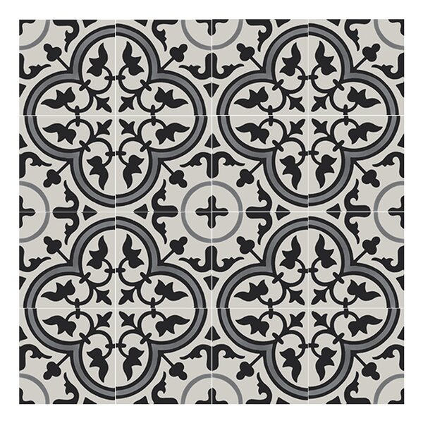 Casa 8 x 8  Handmade Cement tile in Multi-Color by Moroccan Mosaic