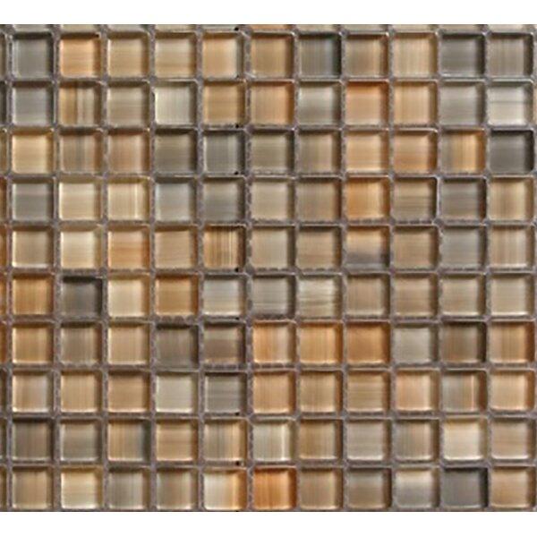 Handicraft II 0.75 x 0.75 Glass Mosaic Tile in Glazed Desert by Abolos