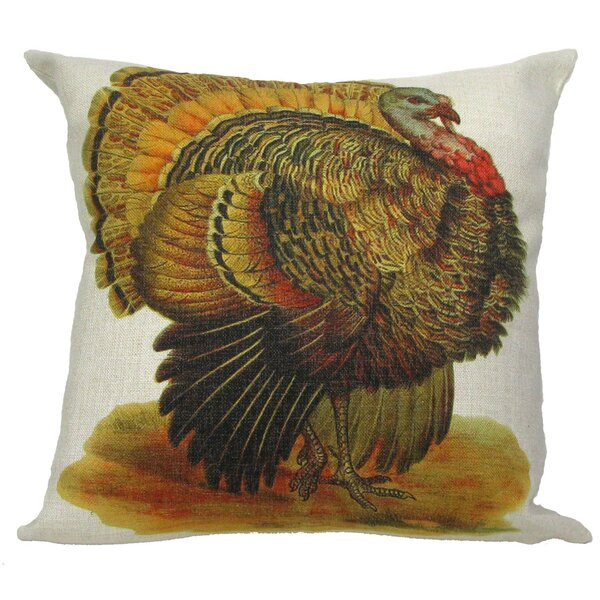Turkey Throw Pillow by Golden Hill Studio