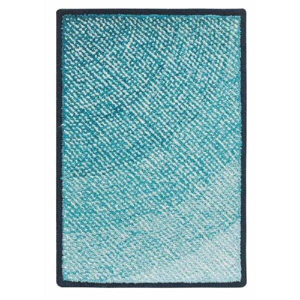 Infinity Hand Hooked Blue Indoor/Outdoor Area Rug by CompanyC