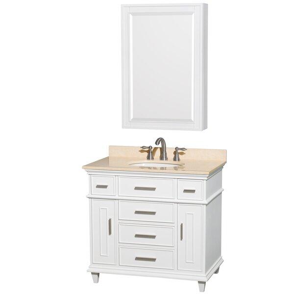 Berkeley 36 Single Bathroom Vanity Set with Mirror by Wyndham Collection