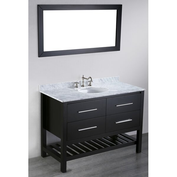 Cockrell 47 Single Bathroom Vanity Set with Mirror by Mercury Row