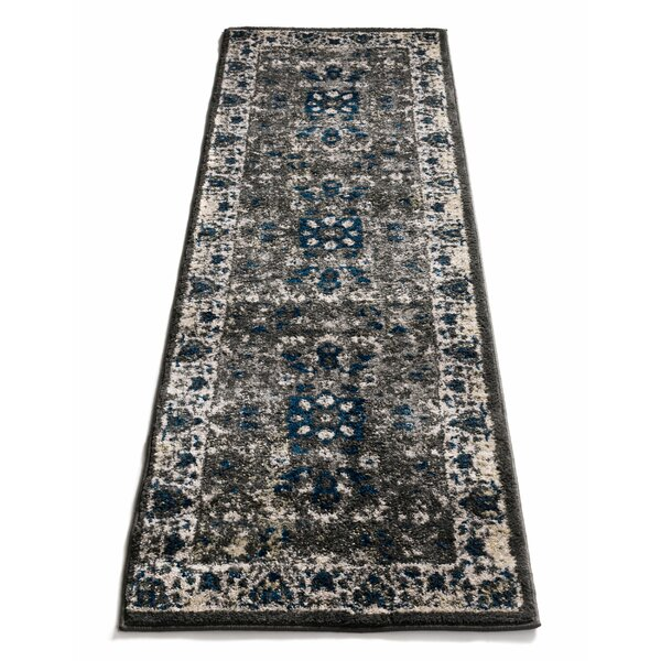 Vettore Corto Vintage Traditional Gray Area Rug by Well Woven