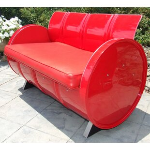 Loveseat with Cushions By Drum Works Furniture