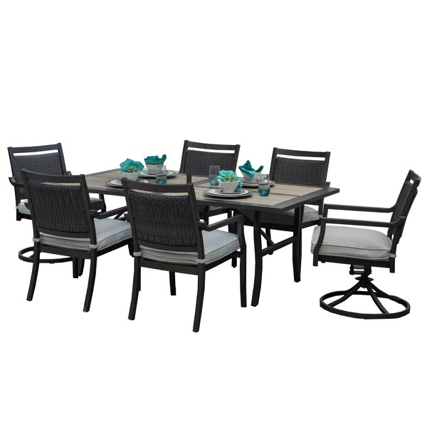 Dreher 7 Piece Sunbrella Dining Set with Cushions by Red Barrel Studio