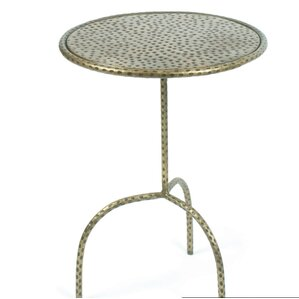 Tyrone Hammered End Table by World Menagerie