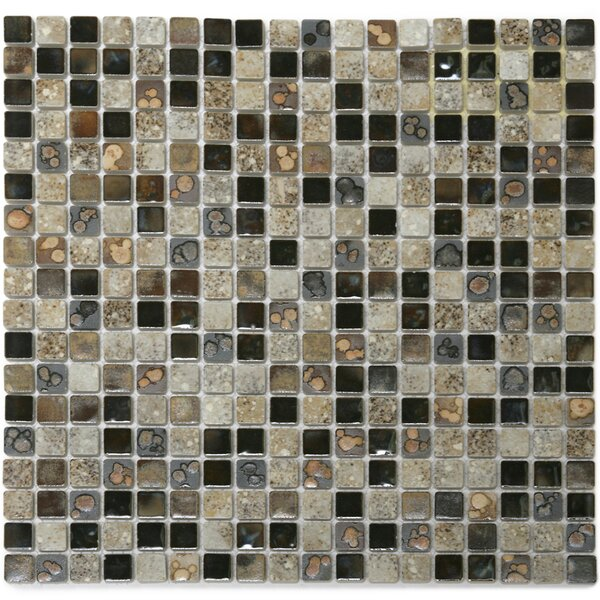 Terrene 0.6 x 0.6 Solstice Porcelain Mosaic Tile in Multi by Solistone