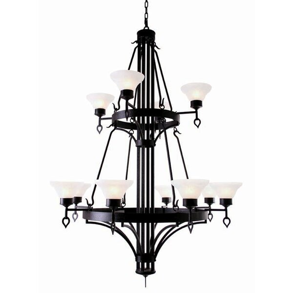 12 - Light Shaded Tiered Chandelier by 2nd Ave Design 2nd Ave Design