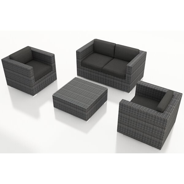 Hobbs 4 Piece Sunbrella Sofa Seating Group with Cushions by Rosecliff Heights