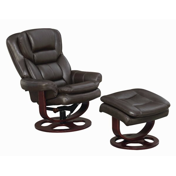 Nikodemos Manual Glider Recliner with Ottoman W000083891