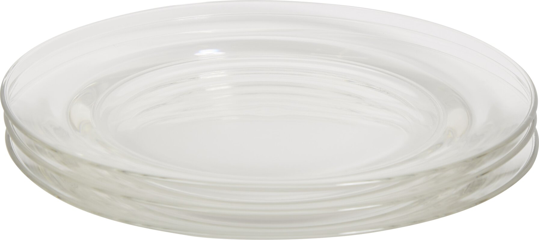 Wayfair Basics 11 in. Glass Dinner Plates