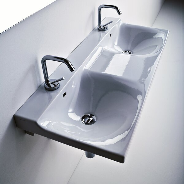 Buddy Ceramic 40 Wall Mount Bathroom Sink with Overflow by WS Bath Collections