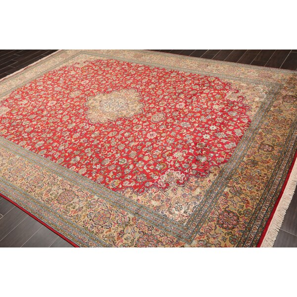 One-of-a-Kind Colangelo Hand-Knotted Red 8'3 x 10'11 Silk Area Rug