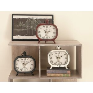 3 Piece Table Clock Set (Set of 3)