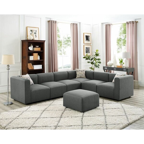 Judd Modular Sectional with Ottoman by Wrought Studio
