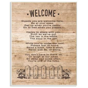 Stupell Industries Guests Are Welcome Here Textual Art Print On Canvas Wayfair