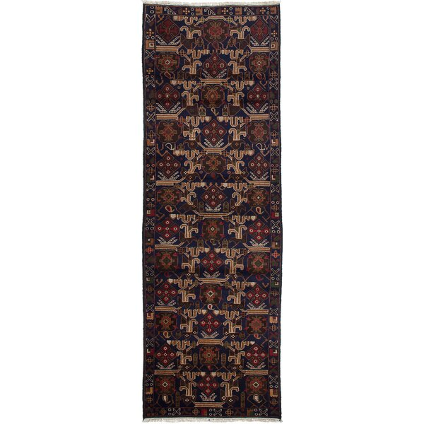 One-of-a-Kind Caya Hand-Knotted Blue Area Rug by Isabelline