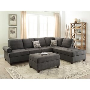 Reversible Sectional  sc 1 st  Wayfair : sectional with movable chaise - Sectionals, Sofas & Couches