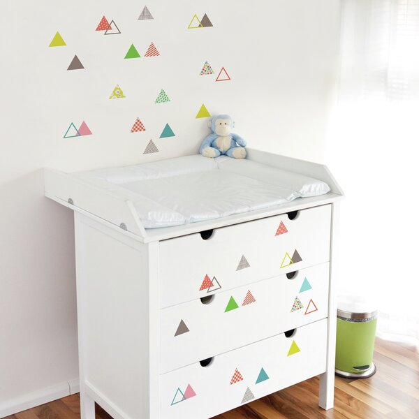 Cecelia Small Triangles Wall Sticker/Decal by Harriet Bee