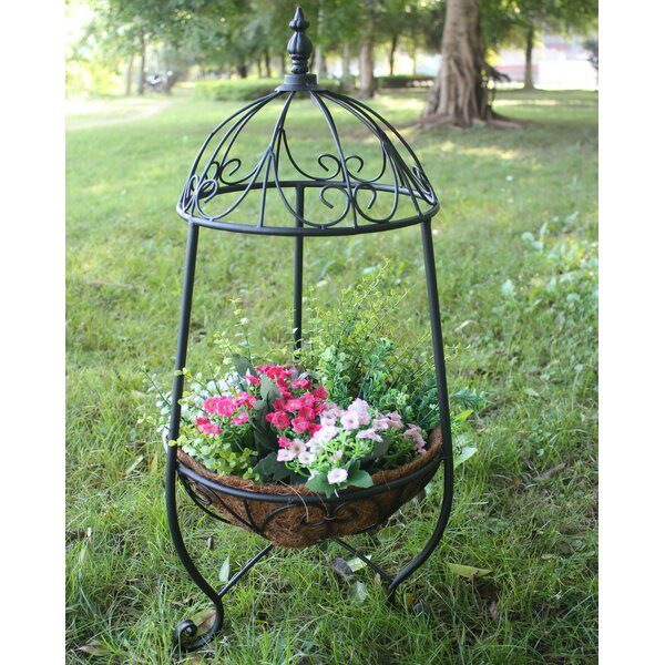 Metal Plant Stand with Decorative Cap by Hi-Line Gift Ltd.
