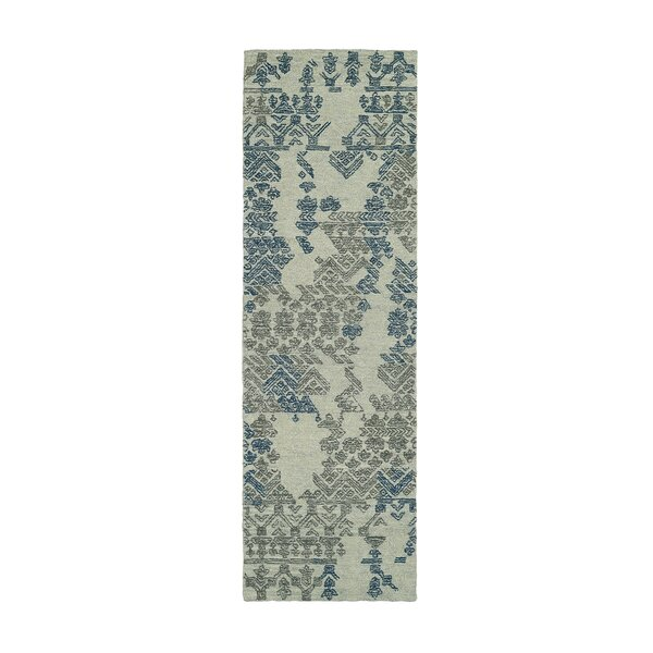 Stockman Hand-Tufted Wool Gray/Blue Area Rug by Wrought Studio