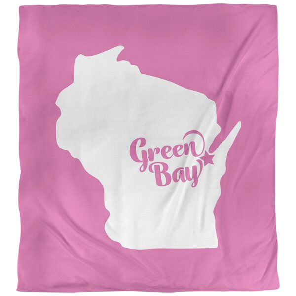 Green Bay Wisconsin Single Reversible Duvet Cover