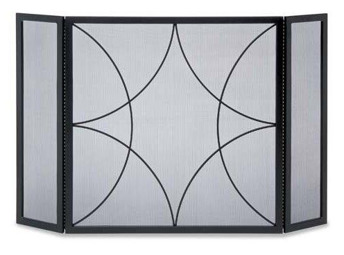 Forged Diamond 3 Panel Steel Fireplace Screen By Pilgrim Hearth