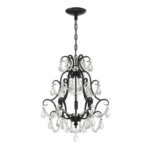 Top Reviews Bischoffs 3-Light Candle Style Chandelier By Rosdorf Park