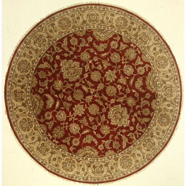 One-of-a-Kind Cora Hand-Knotted Wool Red Area Rug by Isabelline