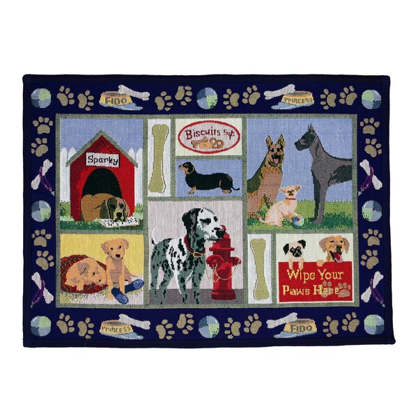 PB Paws & Co. Navy Dog Days Tapestry Area Rug by Park B Smith Ltd