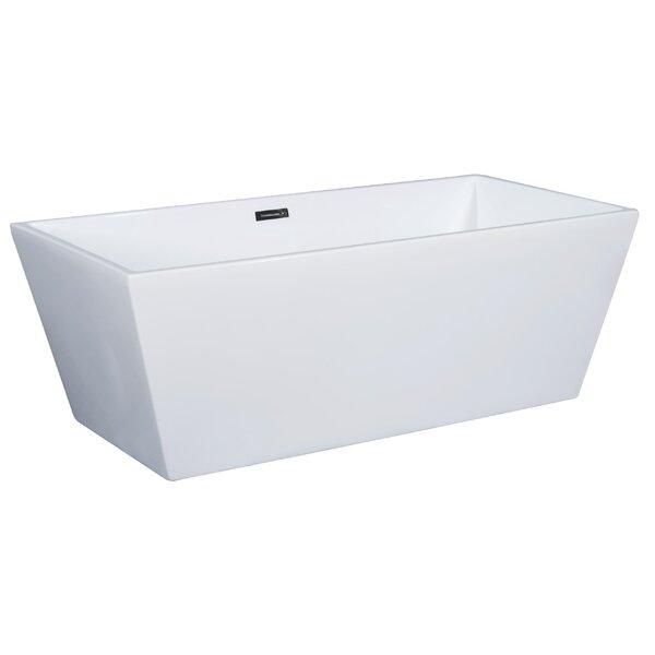 Rectangular Acrylic 67 x 32 Freestanding Soaking Bathtub by Alfi Brand