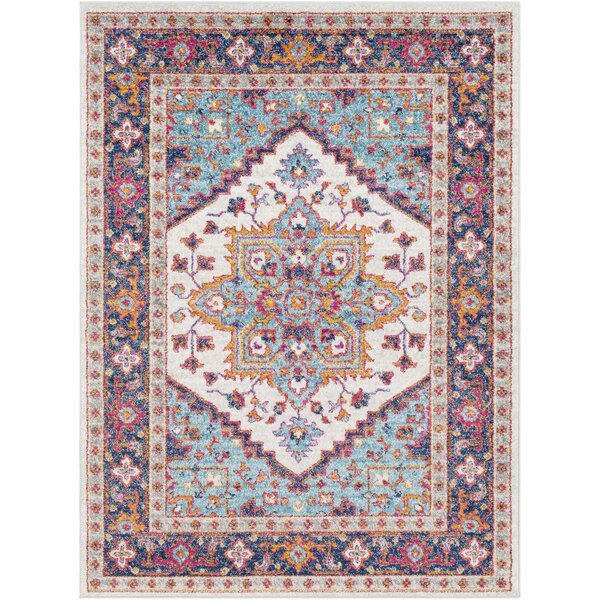 Almonte Blue/Navy Area Rug by Bungalow Rose