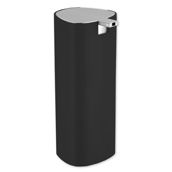 Stainless Steel Cylinder Soap Dispenser by Home Basics