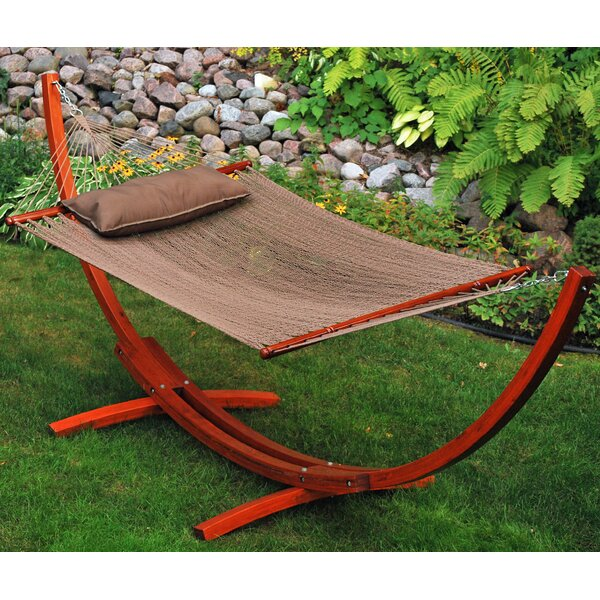 Patrick Polyester Hammock with Stand by World Menagerie