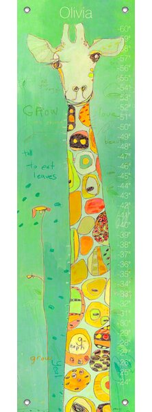 Grow - Personalized Canvas Growth Chart by Oopsy Daisy